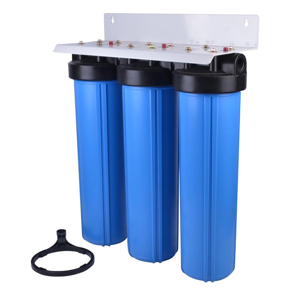 ✔️3 Stage Big Blue Water Filter With Cartridges (On Bracket) | LiveStainable